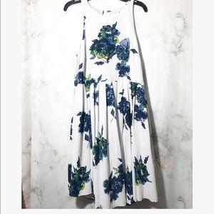 Free people flower blue dress